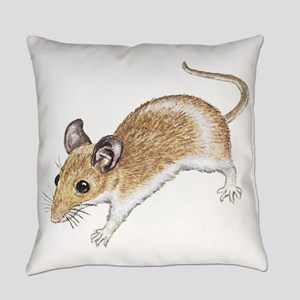 White Mouse Everyday Pillow