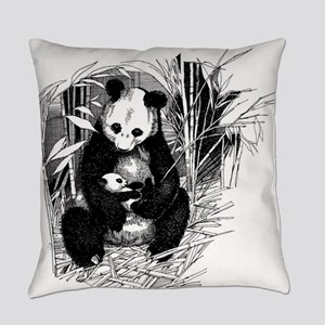 Panda and baby Everyday Pillow