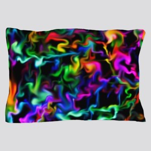 Rainbow Acid Swirls Pillow Case