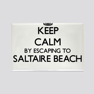 Keep calm by escaping to Saltaire Beach Ne Magnets