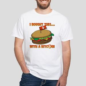 I Bought Bitcoin BG White T-Shirt