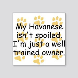 Well Trained Havanese Owner Sticker
