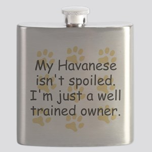 Well Trained Havanese Owner Flask
