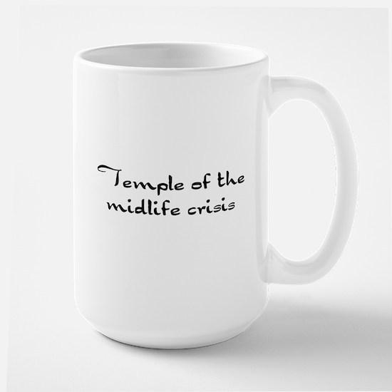 Temple of the midlife crisis Large Mug
