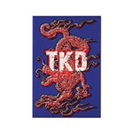 Blue TKD Dragon Magnets 10 pack