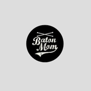 Baton Mom Mini Button
