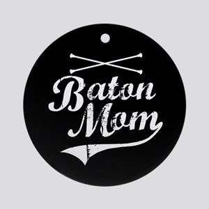 Baton Mom Ornament (Round)