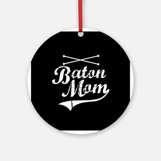 Baton Mom Ornament (Round)