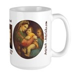 Madonna of the Chair by Raphael Large Mug