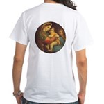 Madonna of the Chair by Raphael White T-Shirt