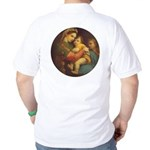 Madonna of the Chair by Raphael Golf Shirt