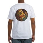 Madonna of the Chair by Raphael Fitted T-Shirt