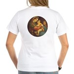 Madonna of the Chair by Rap Women's V-Neck T-Shirt