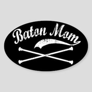 Baton Mom Oval Sticker