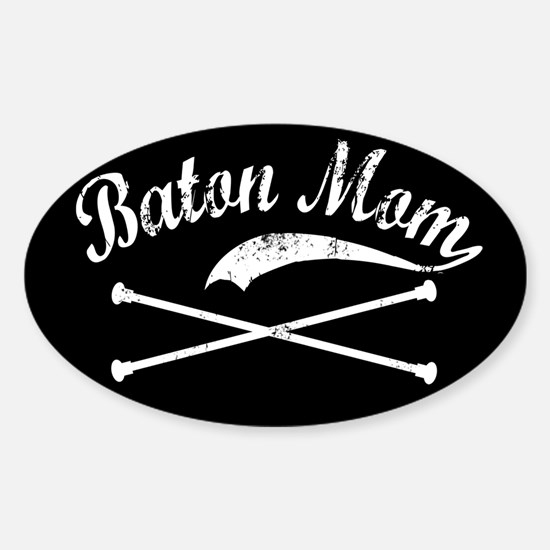 Baton Mom Oval Decal
