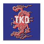 Blue TKD Dragon Tile Coaster