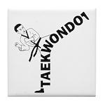 Taekwondo Kicker Tile Coaster