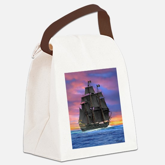 Black Sails of the Caribbean Canvas Lunch Bag