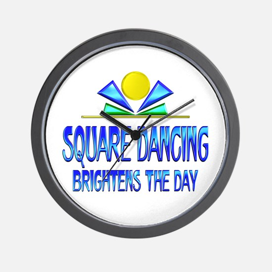 Square Dancing Brightens the Day Wall Clock