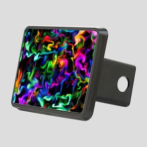 Rainbow Acid Swirls Rectangular Hitch Cover