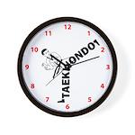 Taekwondo Kicker Wall Clock