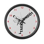Taekwondo Kicker Large Wall Clock