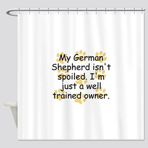 Well Trained German Shepherd Owner Shower Curtain
