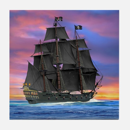 Black Sails of the Caribbean Tile Coaster