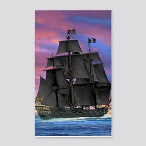 Black Sails of the Caribbean Area Rug