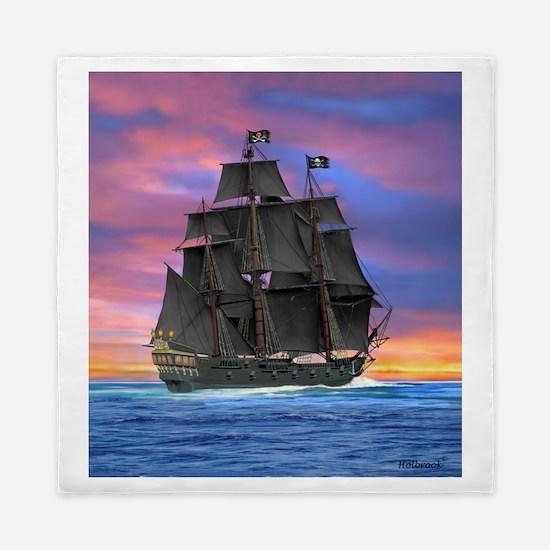 Black Sails of the Caribbean Queen Duvet