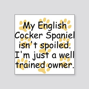 Well Trained English Cocker Spaniel Owner Sticker