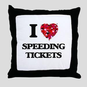 I love Speeding Tickets Throw Pillow