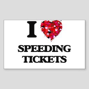 I love Speeding Tickets Sticker