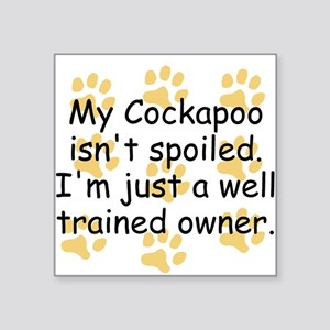 Well Trained Cockapoo Owner Sticker