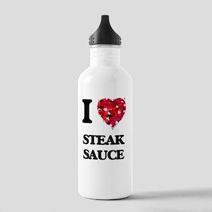 I love Steak Sauce Stainless Water Bottle 1.0L