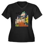 Frontenac Castle with Signatu Women's Plus Size V-