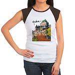 Frontenac Castle with Signatu Women's Cap Sleeve T
