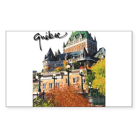 Frontenac Castle with Signatu Sticker (Rectangular