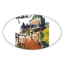 Frontenac Castle with Signatu Oval Sticker