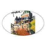 Frontenac Castle with Signatu Oval Sticker