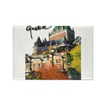Frontenac Castle with Signatu Rectangle Magnet (10