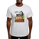 Frontenac Castle with Signatu Light T-Shirt