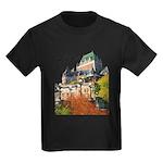 Frontenac Castle with Signatu Kids Dark T-Shirt