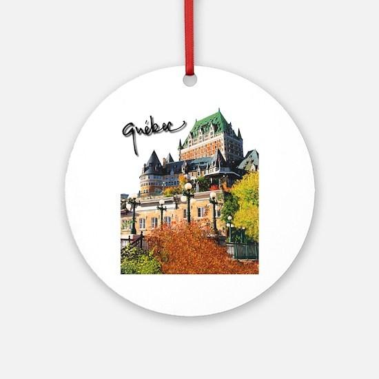 Frontenac Castle with Signatu Ornament (Round)