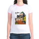 Frontenac Castle with Signatu Jr. Ringer T-Shirt