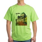 Frontenac Castle with Signatu Green T-Shirt