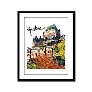 Frontenac Castle with Signatu Framed Panel Print