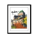 Frontenac Castle with Signatu Framed Panel Print