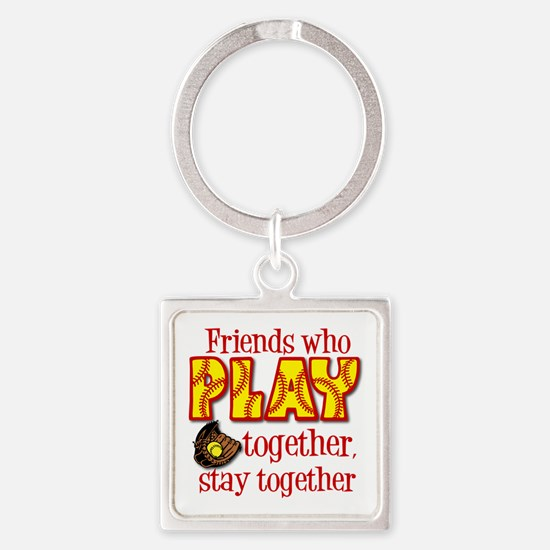 PLAY TOGETHER Square Keychain