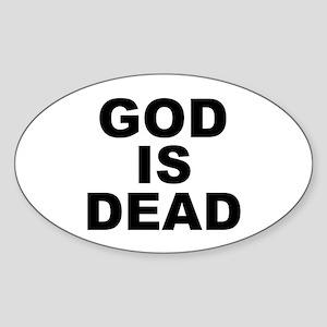 GOD IS DEAD Oval Sticker